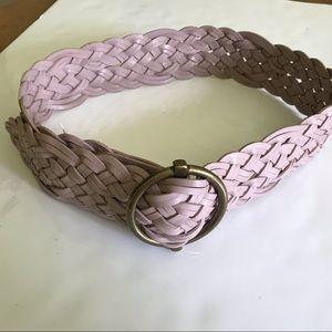 Talbots | Wide Braided Genuine Leather Belt